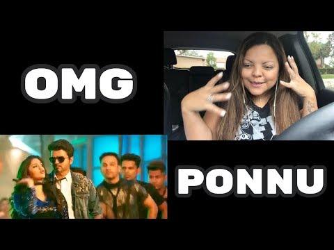 Sarkar - OMG Ponnu Song Video Reaction | Thalapathy Vijay, Keerthy Suresh
