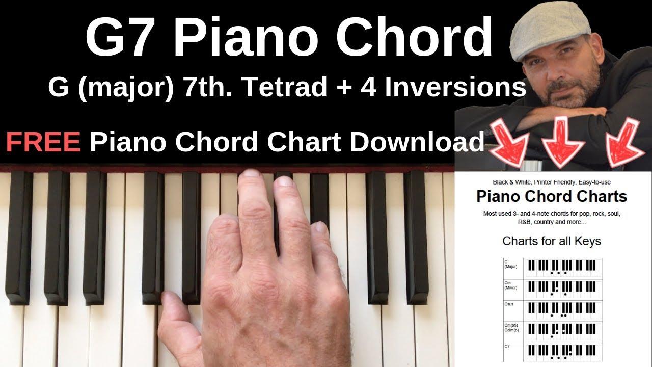 G15 Piano Chord   G Major 15th. + Inversions Tutorial + FREE Chord Chart