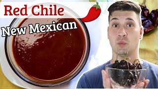Authentic Red Chile Sauce  Four ingredients, 20-minutes, epic, New Mexican staple
