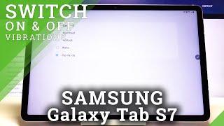 Come regolare il modello di vibrazione in Samsung Galaxy Tab S7 - Gestisci le vibrazioni