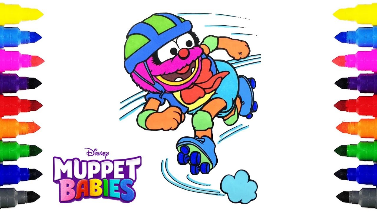 Muppet Babies Animal Disney Junior Coloring Pages for Kids ...