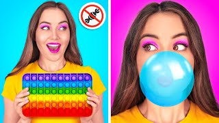 SNEAKY FOOD IDEAS TO EASE YOUR LIFE || Crazy Ways To Sneak Snacks By 123 GO! GOLD