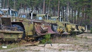 Заброшенная инженерная военная техника./Old engineering equipment.