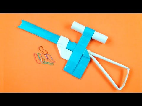 How to Make a Paper Sniper Rifle - rubber band paper gun