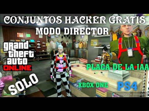 *CONJUNTOS HACKER GRATIS* (GTA V ONLINE) PLACA DE LA IAA ,JOGGERS DE COLORES, TRAJE TITAN XBOX 1/PS4