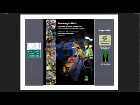 DCEN WEBINAR: New CRI Report on Domestic Jobs Impacts from Recycling Beverage Containers