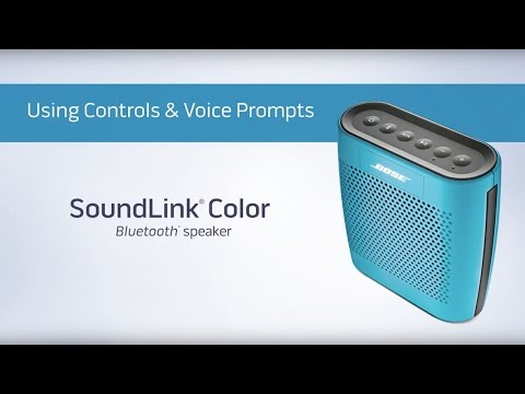 How to use controls and voice prompts on your SoundLink Color BLUETOOTH speaker