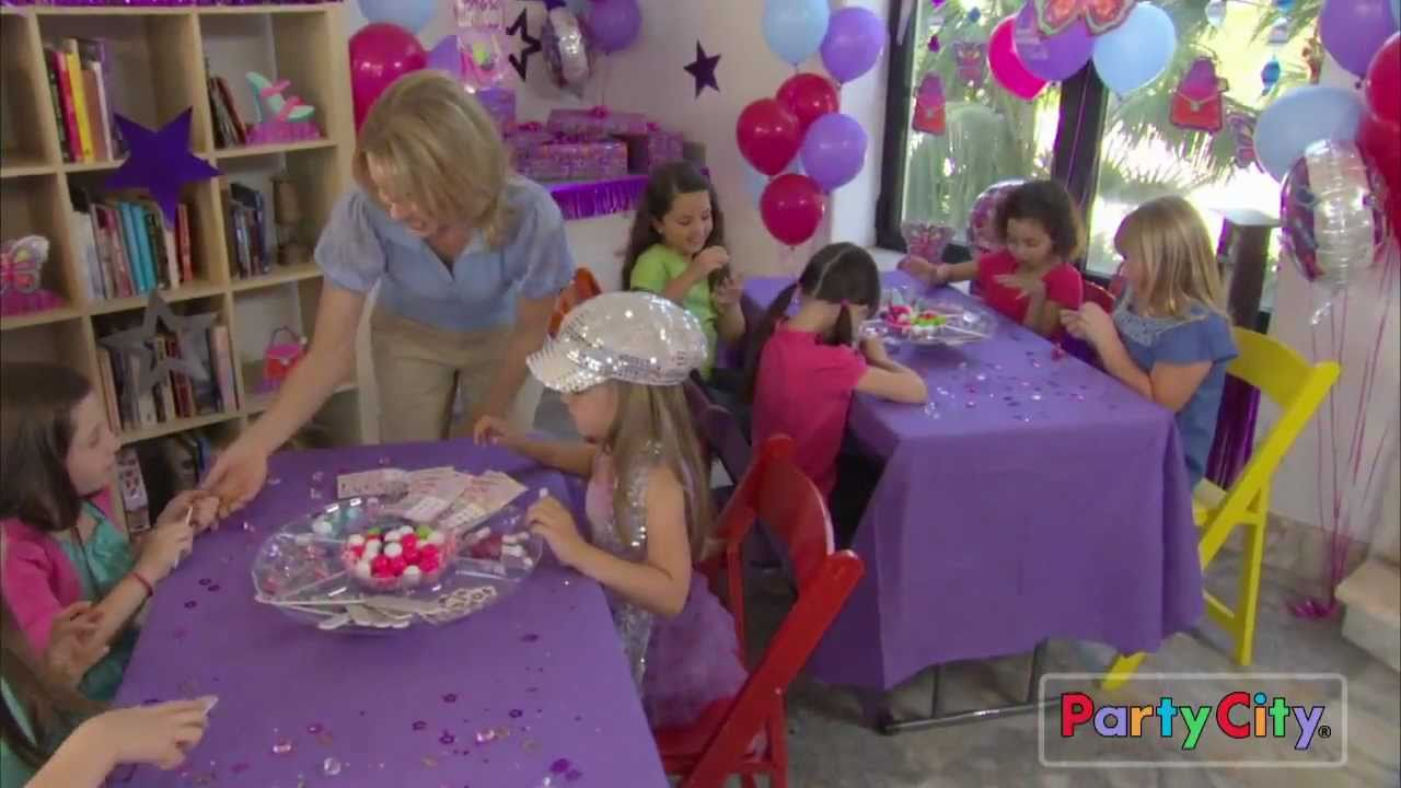 glitzy girl birthday party