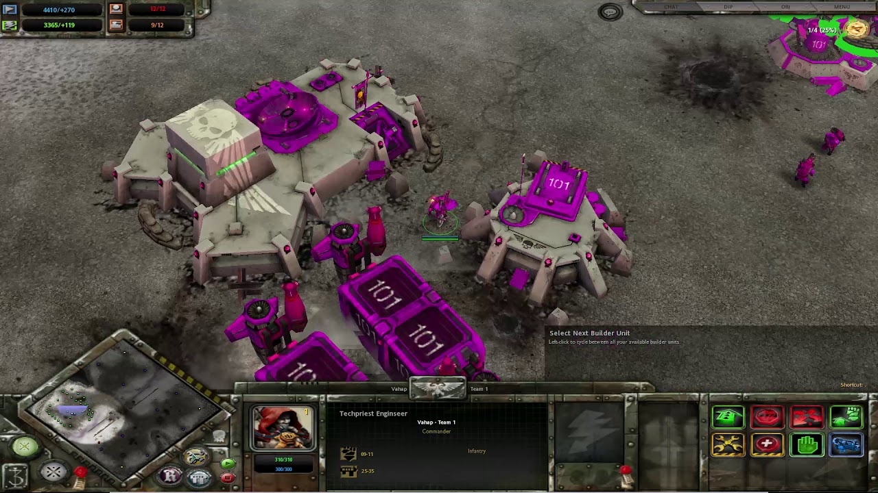 Warhammer: 40,000 Dawn of War: Dark Crusade 4x İnsane Eldar Enemy