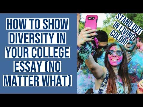 College Essay Diversity
