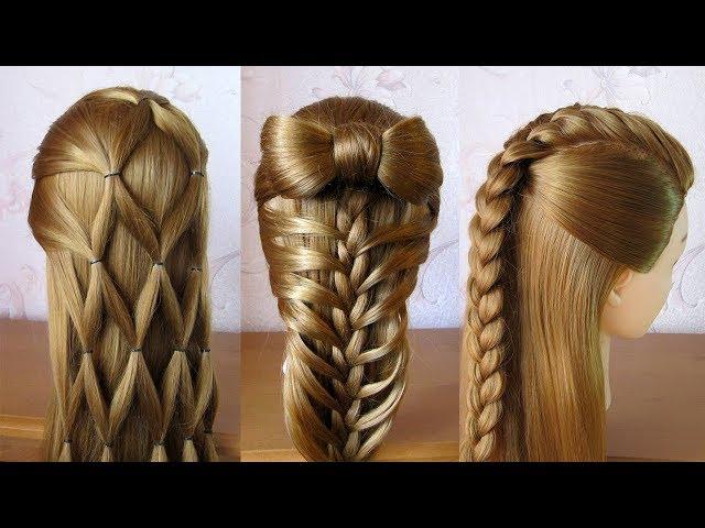 3 coiffures faciles ???? Coiffures pour tous les jours, cheveux mi long / long