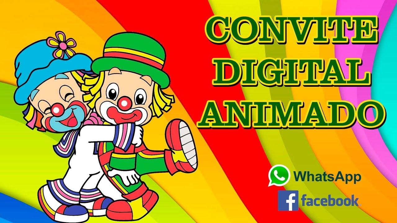 Patati Patatá Convite Virtual Digital Animado Youtube