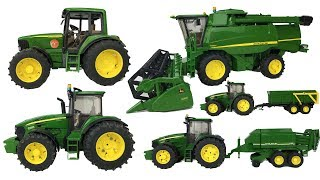ONE HOUR of BRUDER TOYS | Best of JOHN DEERE | Tractors for kids