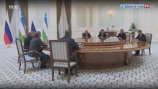 Смотреть видео Президент Узбекистана принял председателя Государственной думы России онлайн