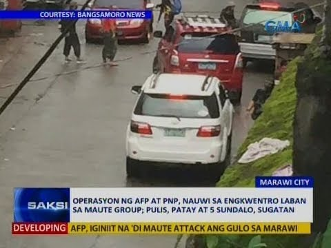 Saksi: Operasyon ng AFP at PNP, nauwi sa engkwentro laban sa Maute group