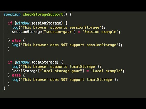 In 3 minutes, html5 web storage API