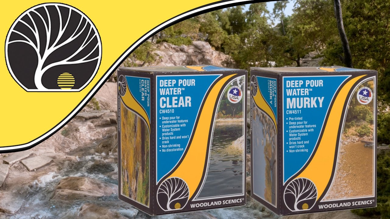 How To Use Deep Pour™ Water Clear & Murky | Woodland Scenics | Model Scenery