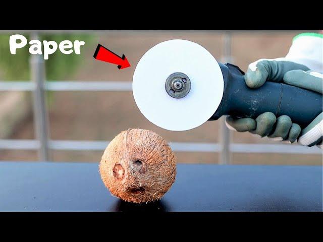 Paper VS Coconut | क्या कागज नारियल को काट पायेगा? Awesome Science Experiment