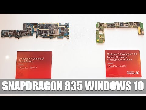 Qualcomm shows first Windows 10 PC with Snapdragon 835 SoC #Computex2017