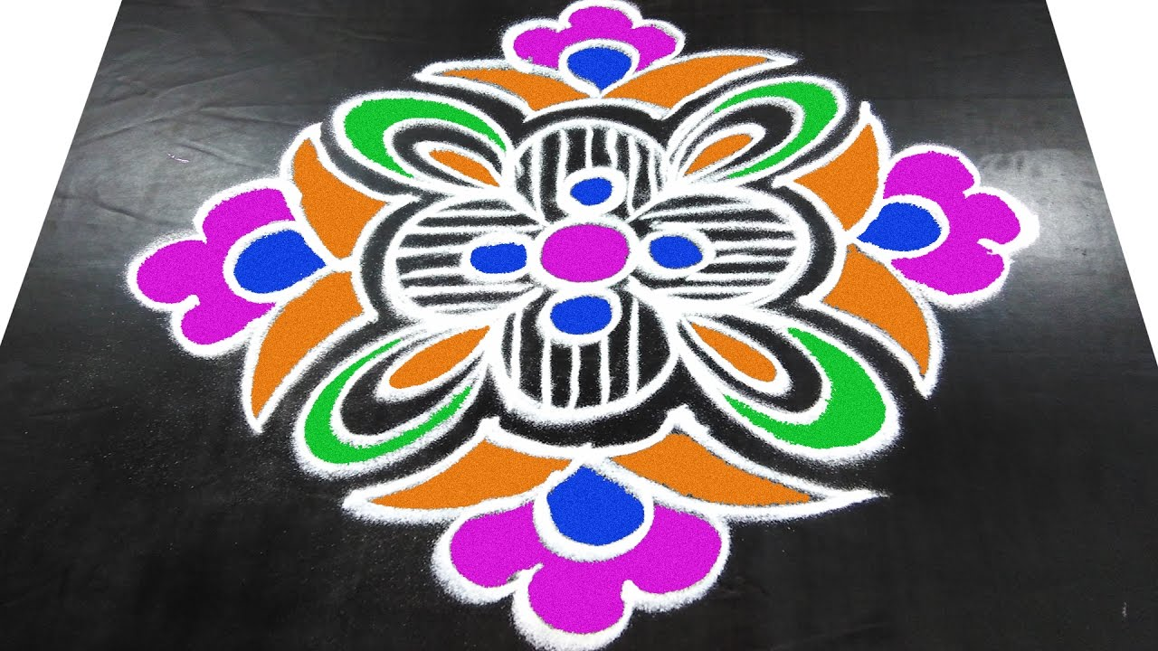 #168 - Simple Muggulu   Easy Rangoli Designs with Kolam ...