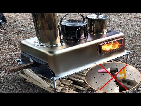 캠핑 화덕오븐난로 만들기/용접없음/Making