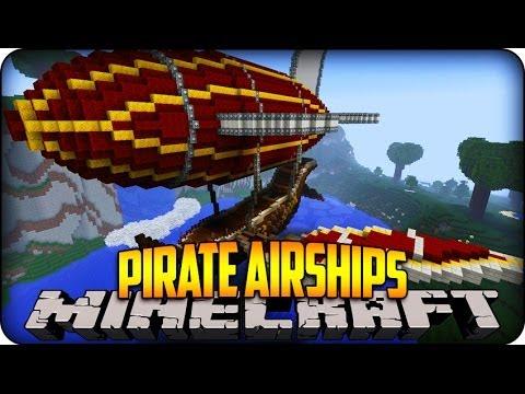 Minecraft Mods - PIRATES & BATTLE AIRSHIPS!! - SteamShip Mod Showcase