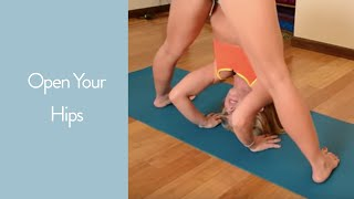 Open your Hips in Yoga: Prasarita Padottanasana to Kurmasana with Kino