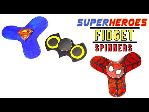 3 Minute Crafts / DIY Superhero Fidget Spinners without bearings / Best Superhero crafts