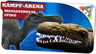 Mosasaurus vs. Spino vs. Angler KampfArena ✪ Ark: Survival Evolved: Ark SE Gameplay