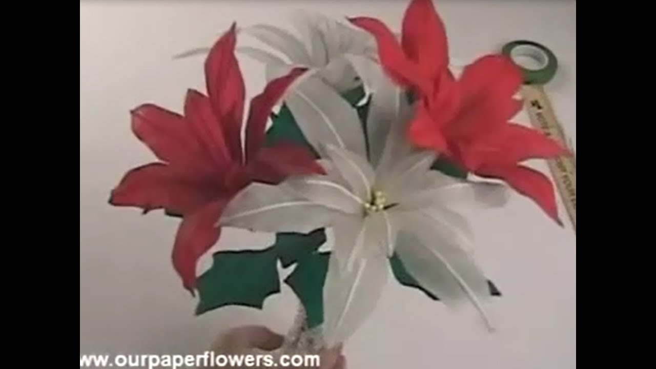 How To Crepe Paper Flowers Bouquet Full Tutorial Step To
