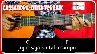 Chord gitar (CASSANDRA-CINTA TERBAIK) petikan