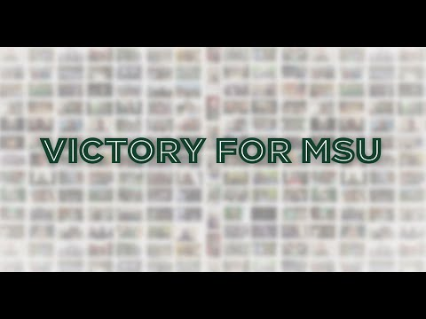 "Spartan Virtual Choir sings ""Victory for MSU"""
