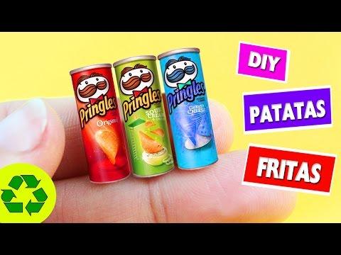 DIY PATATAS FRITAS EN MINIATURA - Pringles y Lays - en menos de 1 minuto