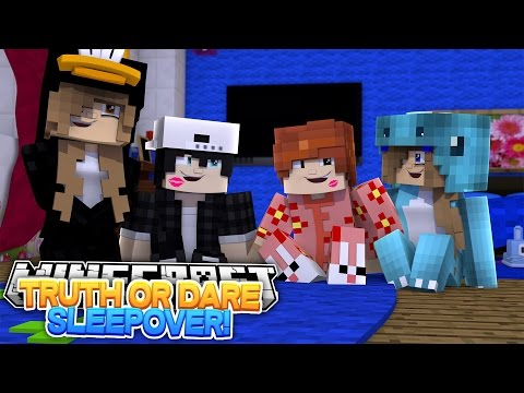 TRUTH OR DARE?! SLEEPOVER WITH THE BOYS w/Little Carly (Minecraft Roleplay)
