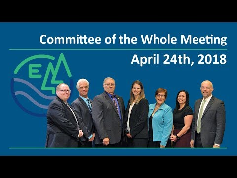 Committee of the Whole Meeting - April 24th, 2018