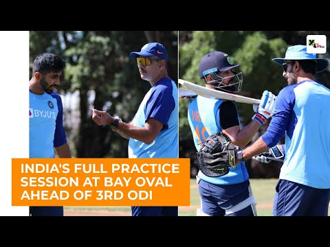 WATCH: Virat Kohli In Full Flow During India's Full Practice Session Ahead Of 3rd ODI At Bay Oval