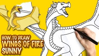 How to draw Wings of Fire Sunny Sandwing - Easy step-by-step drawing lessons for kids