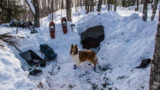 Overnight Winter Camping in a Quinzee