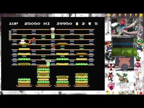 BurgerTime 1st Loop speedrun (4:38) nes