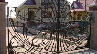 Кованые откатные ворота.  Качественные кованные ворота(, 2014-09-29T06:49:27.000Z)