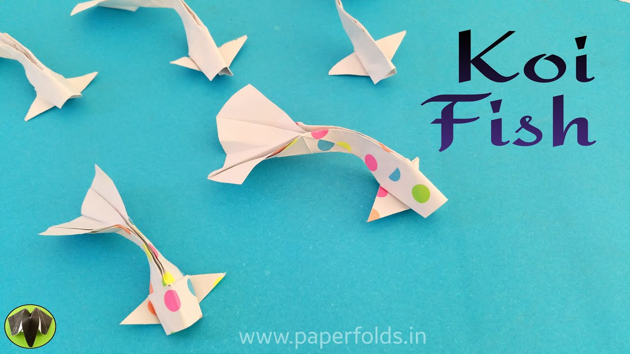 how to make paper fish step by step