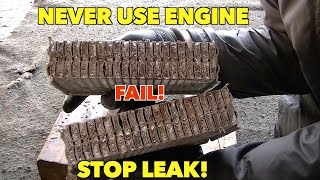 NEVER, NEVER, NEVER..put Radiator Stop leak in.  your vehicle!!!...Heater Core Cut Open