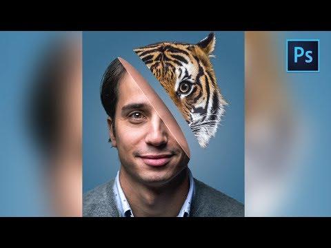 [Photoshop Manipulation] Half Face Effect Tutorial