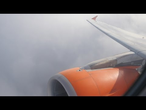 easyJet Airbus A319 - Gatwick to Brussels - flight video | Takeoff and Landing - U28521