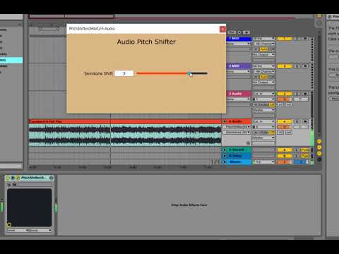 Audio Pitch Shifter Plugin Demo