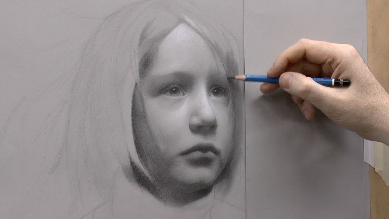 Quot Static Quot Portrait Drawing Of A Child Part 4 Of 5 Youtube