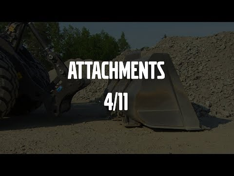 Attachments – Volvo Wheel Loaders H-series – Basic operator training – 4/11