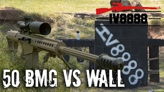 50 BMG vs Block Wall