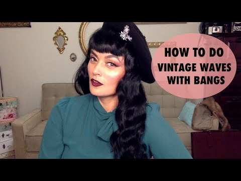 How To Create Vintage Waves with a Curling Iron and Bettie Bangs