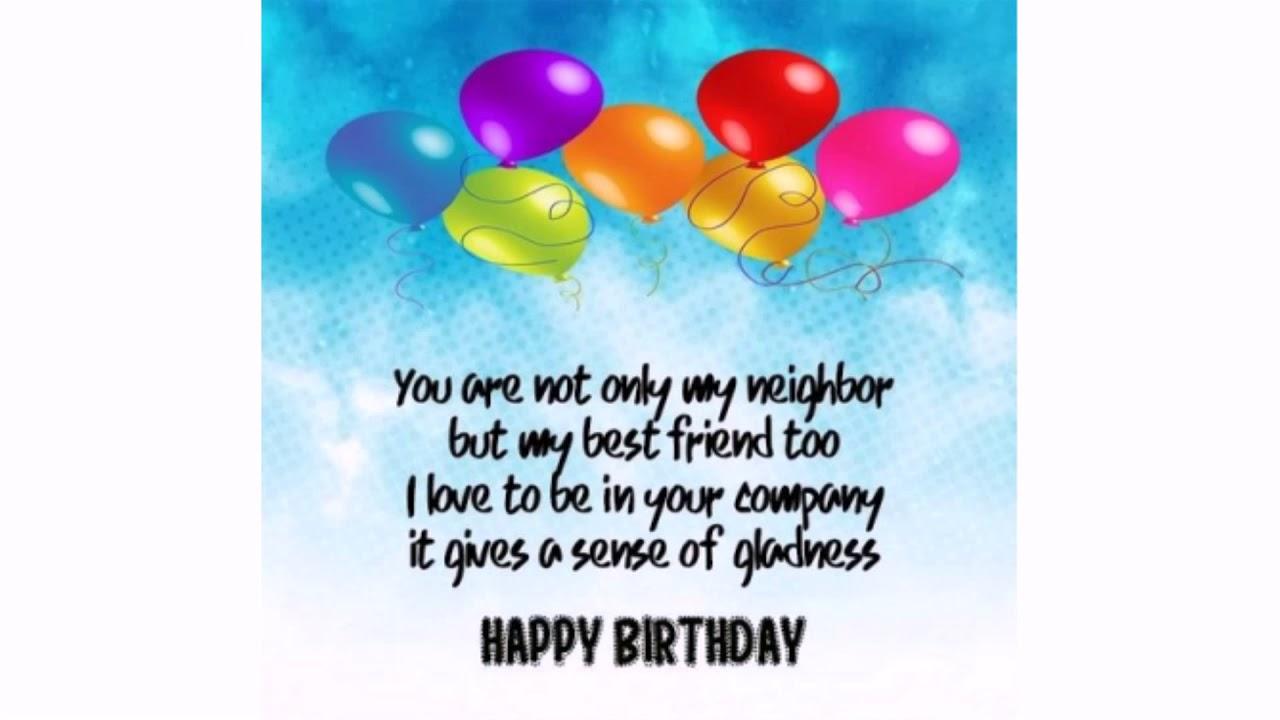 4 Birthday Wishes for Neighbor  WishesGreeting